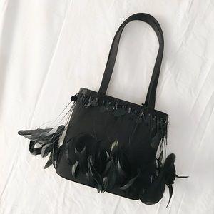 Vintage Feather Satin Bag